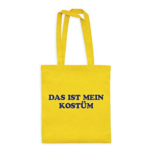 (dress-puntos Baumwolltasche Das ist mein Kostüm 20drpt15-bwt00383-32 Textil yellow / Motiv violett - 42 x 38 cm)