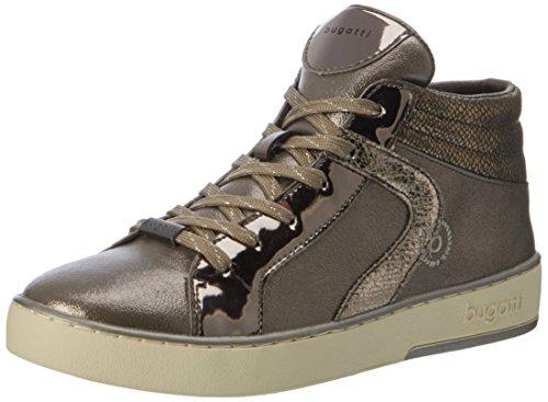 Bugatti Damen 422291305050 Hohe Sneaker, Braun (Taupe/Metallic), 36 EU