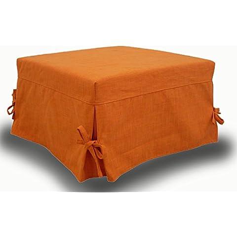 Puff cama plegable, cama otomana, colchón de buena calidad incluido! Tapicería de piel sintética .Producto MADE IN