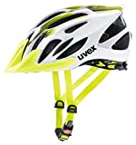 Uvex Flash Casco Ciclismo MTB, Unisex Adulto, Blanco/Verde (Lima), M