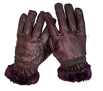 GOOD LIFE STUFF Women's Leather Gloves (Purple)