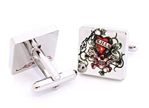 Ed Hardy - EDCL06 Cuff Links - Boutons de manchette Homme - Acier inoxydable
