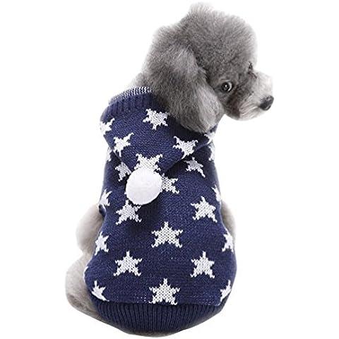 YiJee Navidad Halloween Mascota Ropa Perro Copo De Nieve Suéter