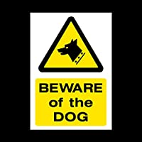 Beware of the dog Sticker/Self Adhesive Sign - Fouling/Dog Area/Clean it up/Security Guard Dogs (MISC60)