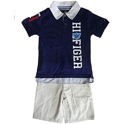 thilfiger bambino pantaloni Outfit polo camicia maglietta + Beige corti