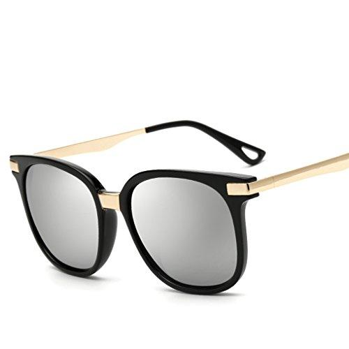 QHGstore Lunettes de soleil rétro Femmes Mode Métal Carré plastique Lunettes Oculos NO.1 NO.6