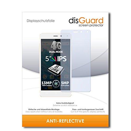 disGuard® Bildschirmschutzfolie [Anti-Reflex] kompatibel mit Allview E4 Lite [4 Stück] Entspiegelnd, Matt, Antireflektierend, Extrem Kratzfest, Anti-Fingerabdruck - Panzerglas Folie, Schutzfolie