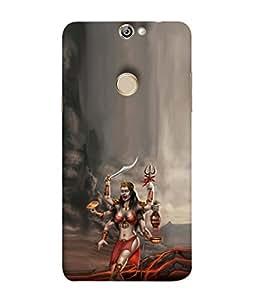 PrintVisa Designer Back Case Cover for Coolpad Max A8 (Maa Shakti Durga Dancing Design)