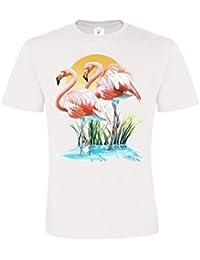 Ethno Designs Wildlife - Flamingos - Oiseaux - Flamants T-Shirt pour Femmes et Hommes - regular fit