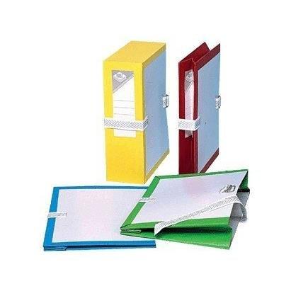 Fast treillet–confezione di 25buste da archivio in cartone soffietto e libro in pvc dos di 10cm verde