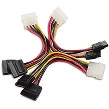 Cable Matters® (3 Pack) 4 Pin Molex à double alimentation SATA Y-Câble Adapteur 6 Inches
