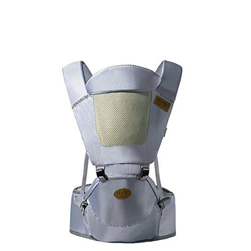 Baby Carrier Breathable Hip Sitzträger Ergonomisches Design Variety Trage Wege mit abnehmbarem Sitz Einstellbare Neugeborene Portable Multifunktions-Rucksackträger 3-36 Monate , gray (Carrier Ergobaby Wrap Baby)