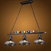 lustres loft rétro chandelier en verre personnalité créative trois restaurant art bar comptoir billard lustre industriel A+