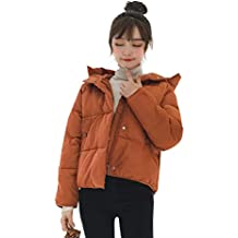 XiuG Women's Winter Thick Warm Down Coat Cotton Parka with Hooded Quilted Jacket Jackets