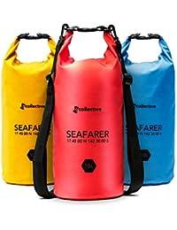 TGcollective Dry Bag | Wasserfester Packsack mit 2 Tragegurten | Aufbewahrungstasche mit optimalem Schutz vor Wasser, Schnee, Schmutz & Staub | 1 x Trockentasche 10l – erhältlich in Blau, Rot & Gelb