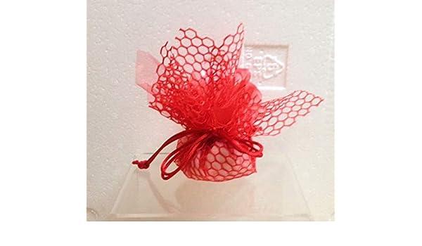 Subitodisponibile pezzi velo organza quadro rosso con rete nido