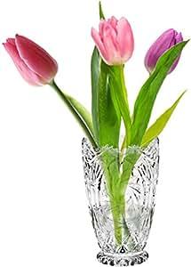 Cristalica Vase Marina Bouquet vase Vase à fleurs Verre au plomb Transparent Fait à la main en Allemagne