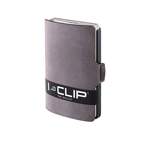I-CLIP ® Geldbörse Soft-Touch Slate, Gunmetal-Black (In 9 Varianten Erhältlich) -