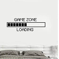 Zxfcccky Wandaufkleber Game Zone Computer Gaming Wandaufkleber Vinyl Wall Decal Decor Laden Videospiel Wand Tattoo Removable Wallpaper Poster