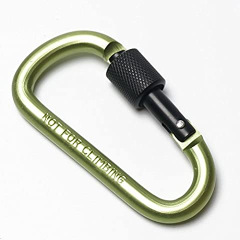 G7Explorer 2PCS Aluminum Alloy D-Ring High Strength Carabiner Key Chain Clip Hook For Camping Hiking (Not for Climbing) Green