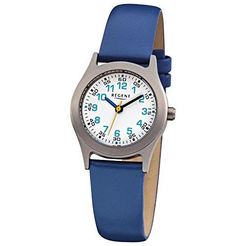 regent-braccialetto-per-bambini-orologio-elegant-analogico-cinturino-in-pelle-blu-orologio-al-quarzo