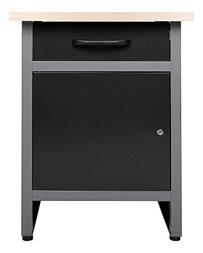 Ondis24 Werkbank Werktisch Werkstatteinrichtung mit Schublade und Tür abschließbar 60 x 60 cm Arbeitshöhe 85 cm TÜV geprüft