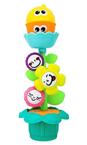 Zooawa Spielzeug Baby, Blume Dusche Wasserspielzeug Badewanne Schwimmbecken Beach Bunt Waaserrad Kinder ab 3 Monate, Mehrfarbig