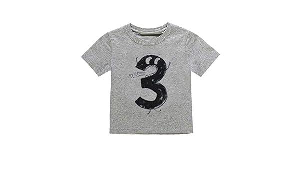 Allence Unisex Baby//Kinder T-Shirt Kinder Nummer 12345 Bedruckte Kinder Kurzarm Sweatshirts Drucken Brief Kurzarm