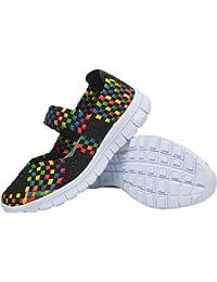 e4496bb82d4 L-RUN Women s Casual Slip-on Sandals Loafer Flats Summer Shoes Black EU40