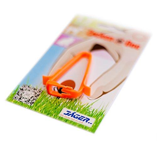 ZeckenDoc Zeckenzange für Menschen & Tiere (Katzen/Hunde etc.) zur Zeckenentfernung aus Kunststoff in Orange