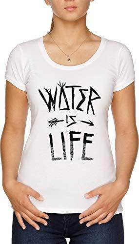 Water is Life Damen T-Shirt Weiß -