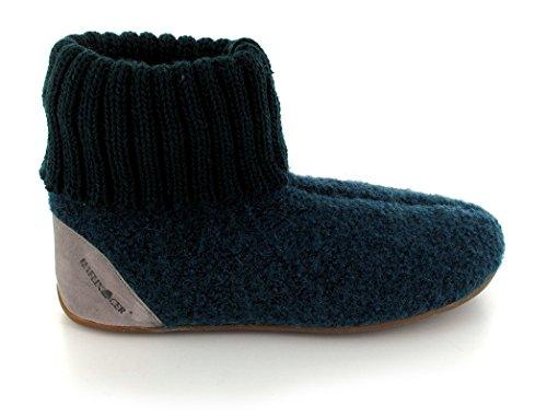 HAFLINGER Everest Luxus Hüttenschuh   Hausschuhexperte   mit Fußbett   Gummisohle   Damen & Herren tannengrün/stein
