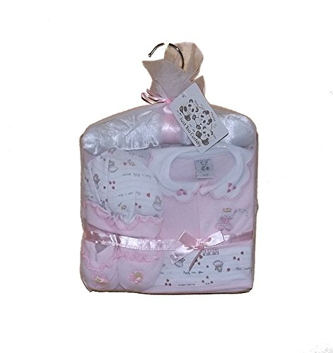 JTC6055 regalo per bambina, completo di confezione, include Stivaletti, cappello, fascia e appendino effetto satinato