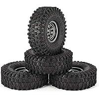 Wafalano 4 Unids 1.9 Pulgadas 120mm Neumáticos de Goma Neumático con Juego de Llantas de Rueda