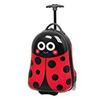 IT Luggage Ladybird Kids Critterbox Suitcase 2 Wheel Trolley Case