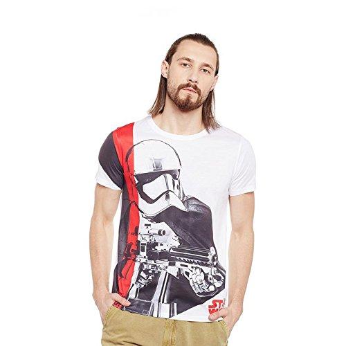 Star Wars White Polyester T-shirt For Men STWR0081_4XL
