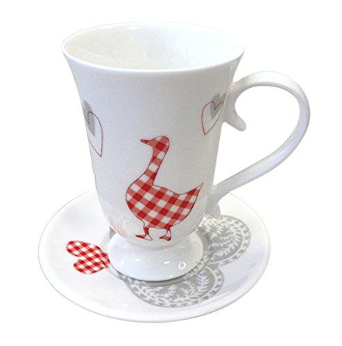 BRANDANI UFFICIALE TAZZINA CAFFE BIANCA PIATTINO ROMANTIC EXPRES OCA PORCELLANA BONE CHINA 55598