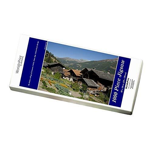 Robert Harding 1000 Piece Puzzle of The Walser village of Grimentz, Valais, Swiss Alps, Switzerland (6230751)