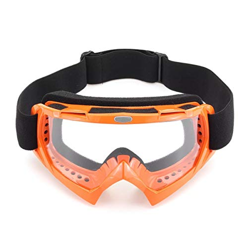 Outdoor Motocross Goggles Off-Road Motocross Racing ATV Dirt Bike Motorrad Skibrille Brillenglas (Farbe : Colorful)