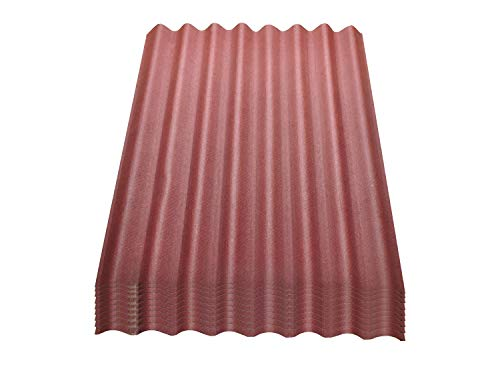 Onduline Easyline Dachplatte Wandplatte Trapezblech Wellplatte 9x0,76m² - rot