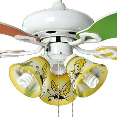 Bambini Ventilatore da soffitto per ragazzi e ragazze camera da letto minimalista ventilatori a soffitto Studio continentale Led luce della ventola