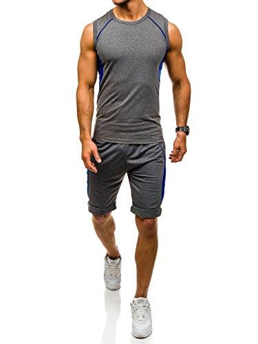 BOLF Herren Trainingsanzug Sweatshirt Sporthose Jogginghose Sport Mix 8H8 Motiv