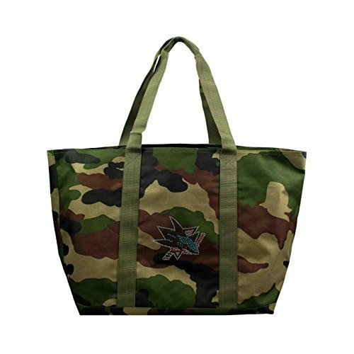 nhl-san-jose-sharks-camo-tote-24-x-105-x-14-inch-olive-by-littlearth