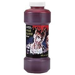Idea Regalo - Amscan International rosso sangue finto–bottiglia di plastica 500ml