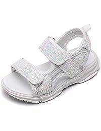 90adbb66f YWLINK Verano Bucle De Gancho NiñOs Y NiñAs Lindas Lentejuelas Malla Suave  Inferior Antideslizante Deportes Zapatos De Playa Sandalias…