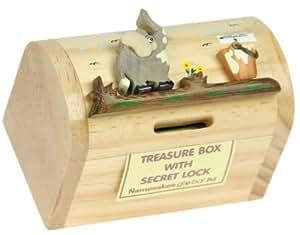 Elephant money box for kids novelty wooden piggy bank for Secret piggy bank