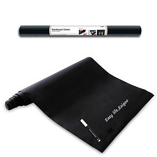 Lavagna Adesiva Riutilizzabile Polipropilene - Carta Lavagna Adesiva - 43 cm x 210 cm + 1 Pennarello Gesso Bianco - Ezigoo