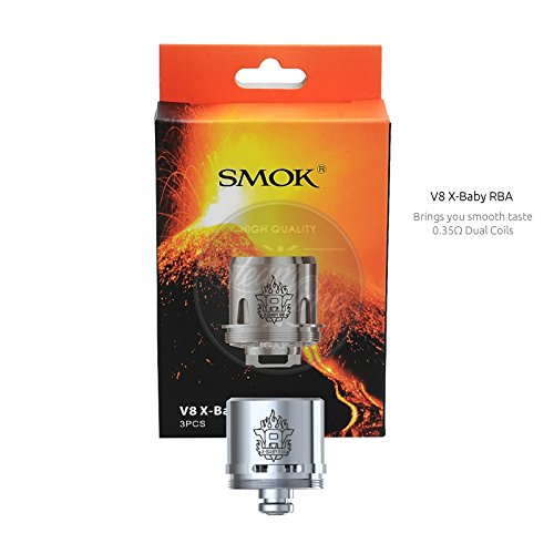 Smok TFV8 X-Baby Coils 3er Pack Verdamferköpfe Größe RBA Base