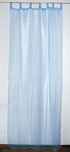 Tendone organza velatissimo tenda telo 140x290 azzurro- camera soggiorno bagno