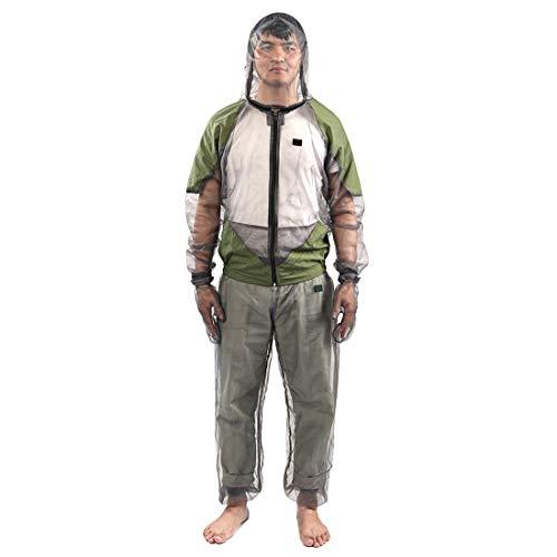 Moskito-Anzug, leichte Anti-Moskito-Netz abweisende Kleidung Hemd Hose Handschuhe, Mesh Moskito abweisende Anzug mit Kapuze Insektenschutz, ideal für Outdoor-Camping Angeln Jagd(XL) Handschuh Hose